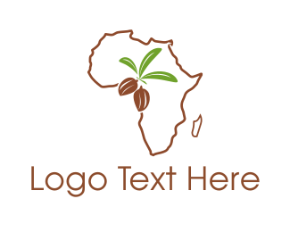 Cocoa - African Almonds logo design