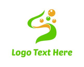 Lab - Green Seaweed logo design