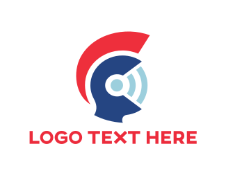 Sparta - Wifi Helmet  logo design