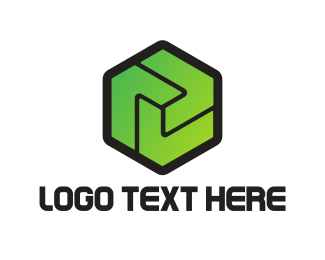 Startup - Green Hexagon logo design