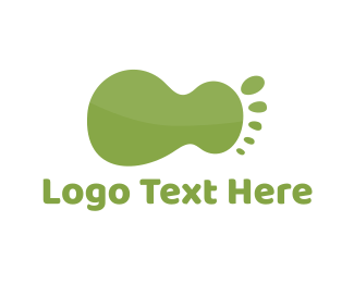 Foot - Green Foot logo design