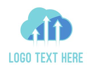 Stream - Arrow Cloud logo design