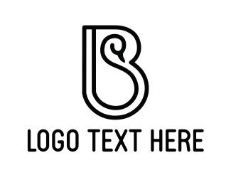 Goose - Black Swan logo design