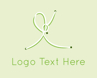 Cotton - Green Knots logo design