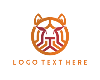 Tribal - Tribal Feline logo design
