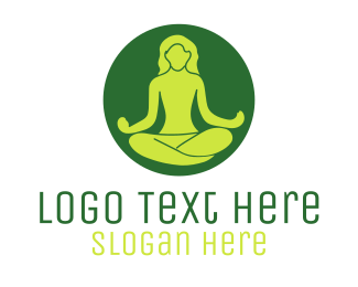 Meditate - Meditating Person logo design