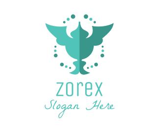 Fashion - Green Humming Bird logo design