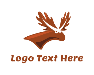 Hunt - Brown Moose logo design