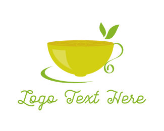 Teapot -  Lemon Tea logo design