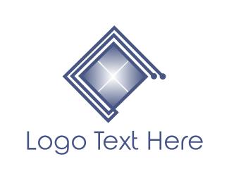 Link - Square Circuit  logo design