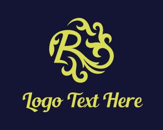 Elegance - Green Letter R logo design