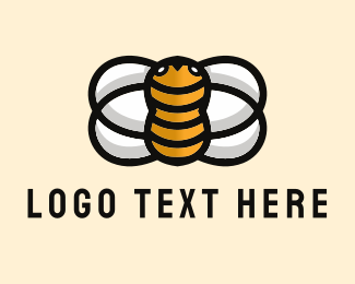 Honey - Yellow Bee  logo design
