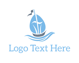 Vessel - Blue Ship logo design