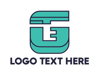 Fabrication - Geometric Teal G logo design