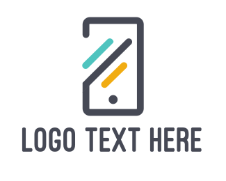 Technology - Abstract Mobile Phone logo design
