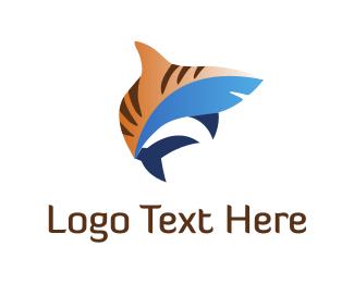 Predator - Tiger Shark logo design