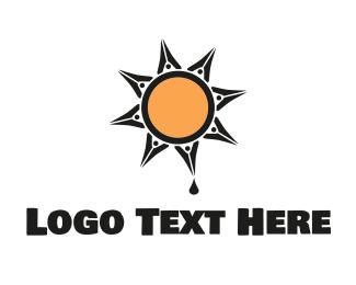 Drip - Ink Sun logo design