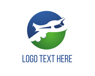 Worldwide - White Jet logo design