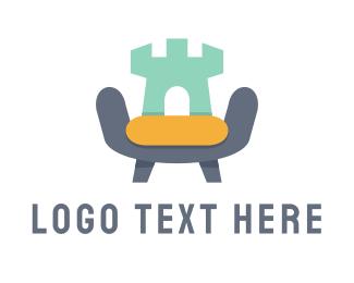 Armchair - Castle Sofa  logo design