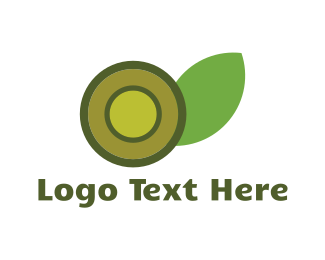 Olive - Round Green Flower logo design
