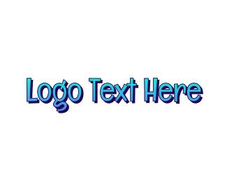 Teenager - Blue & Funky logo design