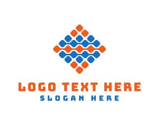 Tile - Tech Grid  logo design