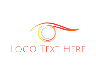 Visual - Colorful Eye logo design
