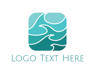 Beach - Turquoise Waves logo design