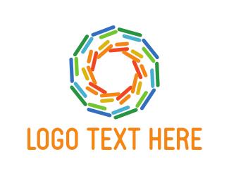 Sunlight - Colorful Sun logo design
