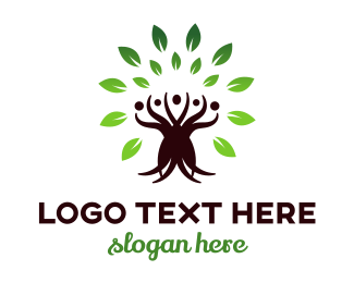 Human Resource - Tree Community  logo design