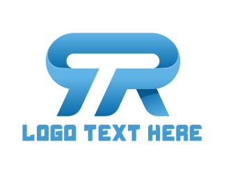 Esports - Blue T & R logo design