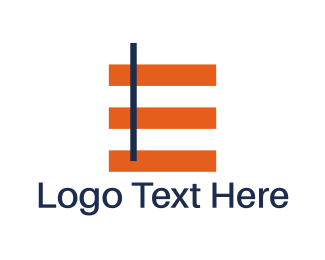 Geometric - Minimalist Letter E logo design