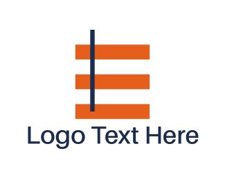 Geometrical - Minimalist Letter E logo design