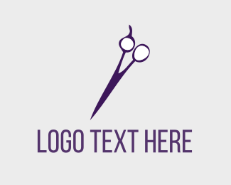 Hairdresser - Purple Hair Salon logo design