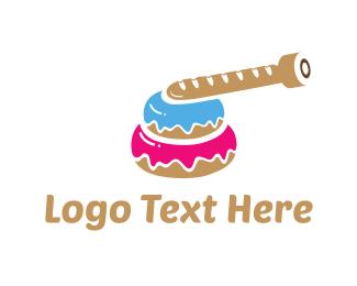Doughnut - Tank Donut logo design