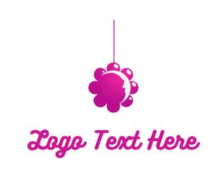 Crib - Flower Mobile logo design