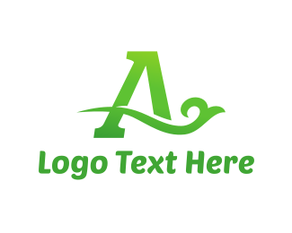 Luxury - Green Eco Letter A logo design