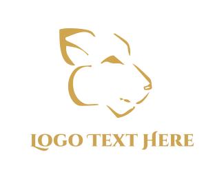 Cougar - Abstract Feline logo design