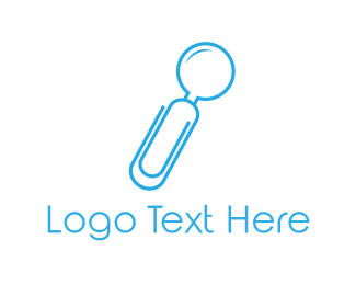 Paper Clip - Office Search logo design