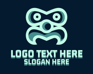 Droid - Moustache Face logo design