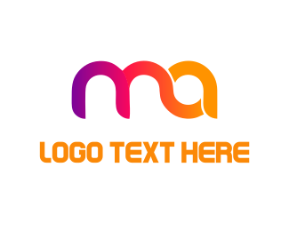 Curved - Colorful Letters  logo design