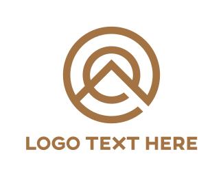 Sparta - Gold Cirle Mountain logo design