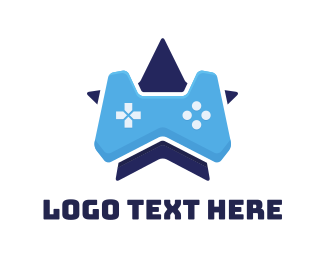 Gaming Community - Blue Star Controller logo design