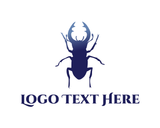 Beetle - Blue Beetle  logo design