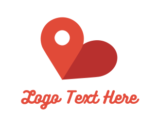 Map - Love Point logo design