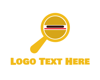 Magnifying Glass - Burger Detective logo design