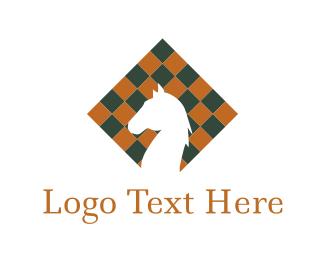 Board - Chess Horse logo design