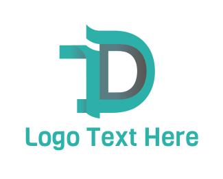 Duke - Blue Letter D logo design