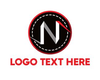Folded - White Letter N logo design