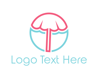 Umbrella - Beach Umbrella logo design